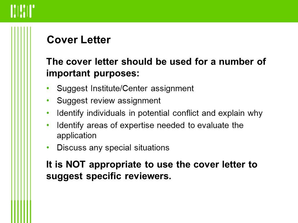 nih cover letter
