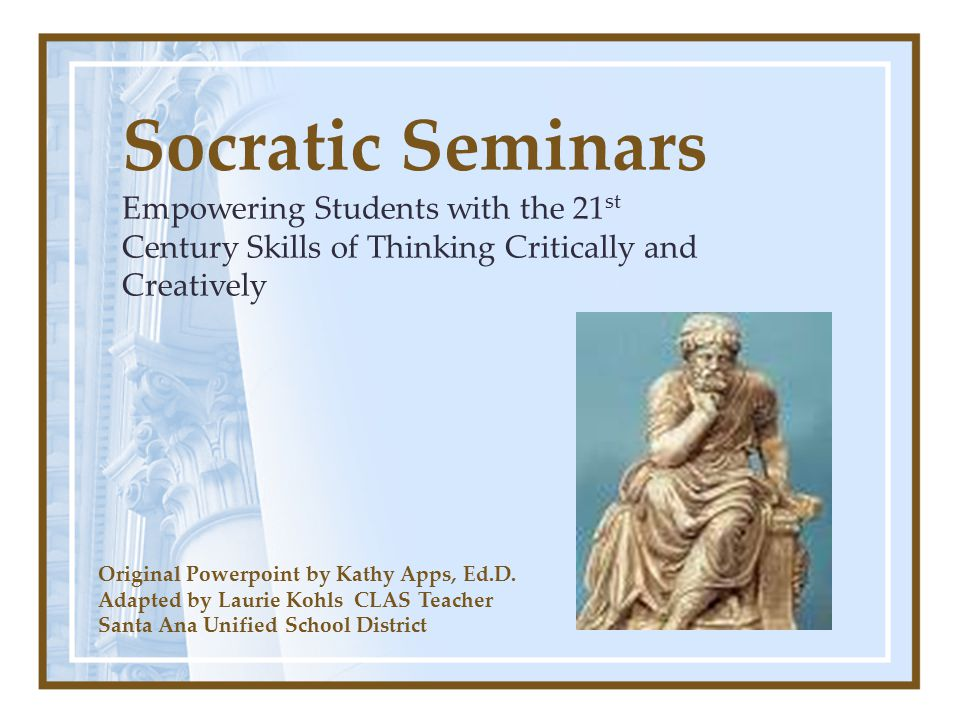 socrates and critical thinking We we be discussing socrates and how we know what is true.