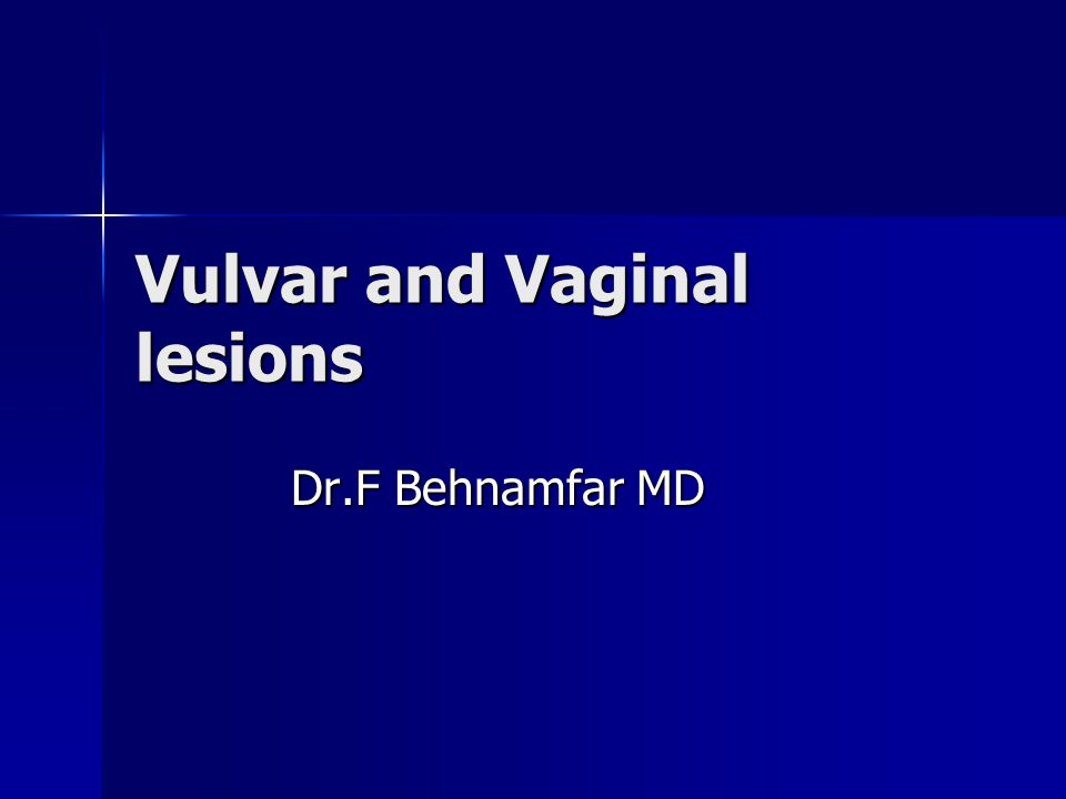 Introduction Most usful means of generating differential diagnosis is by morphological findings rather than symptomatology Vulvar biopsy should be performed if the lesion is clinically suspicious or does not resolve after standard therapy