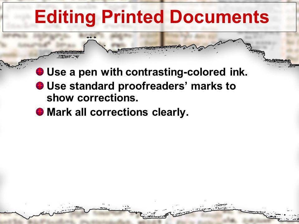 Mla proofreading marks