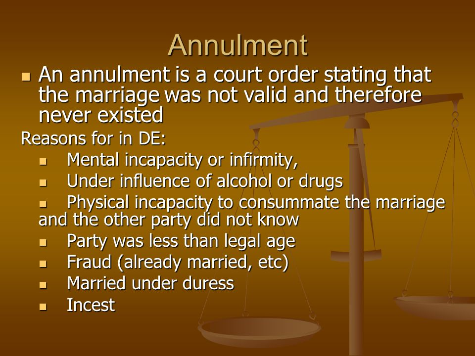 annulment marriage and common children Know how an annulment will affect other areas of your life, such as issues related to your children and property, before deciding on annulment over divorce to end your marriage.