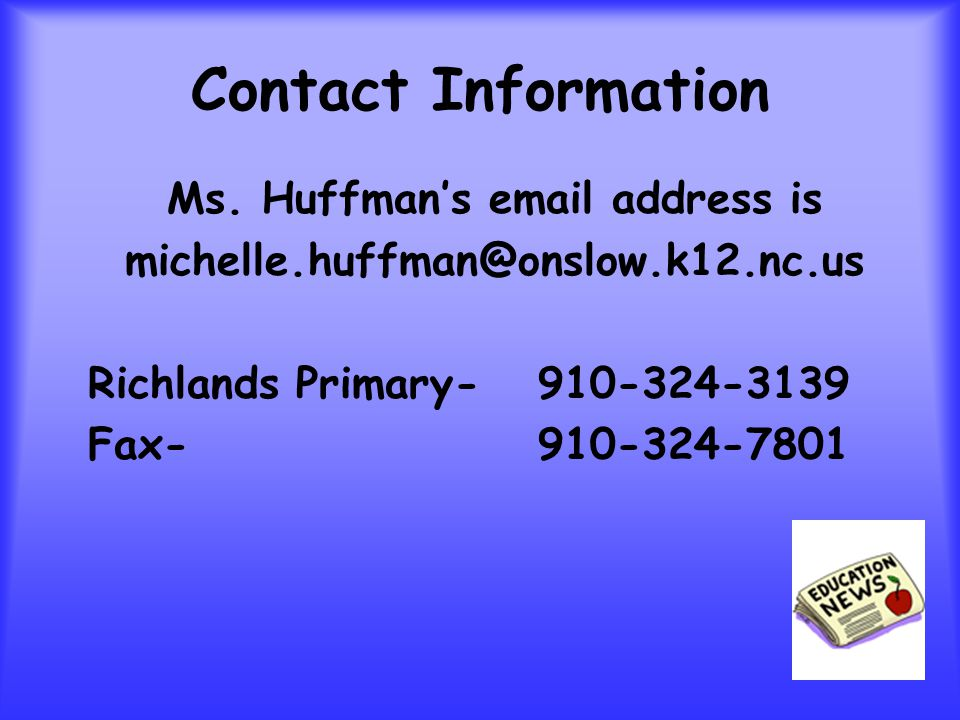 Contact Information Ms.