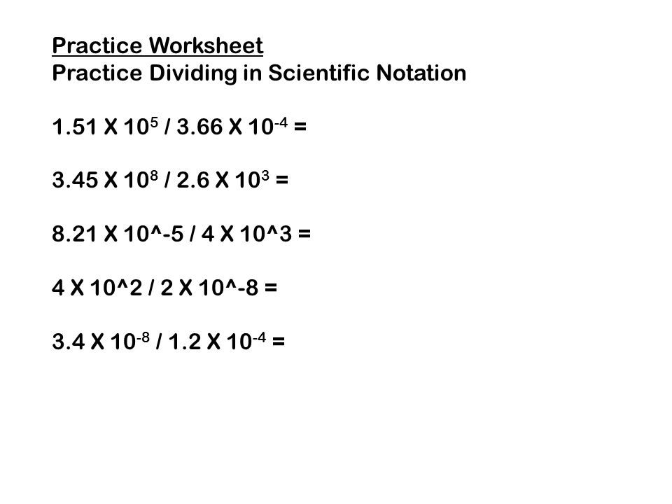 Worksheets Multiplying And Dividing Scientific Notation Worksheet scientific notation division worksheet multiply divide exponents worksheets also evaluating expression multiplying and dividing in division