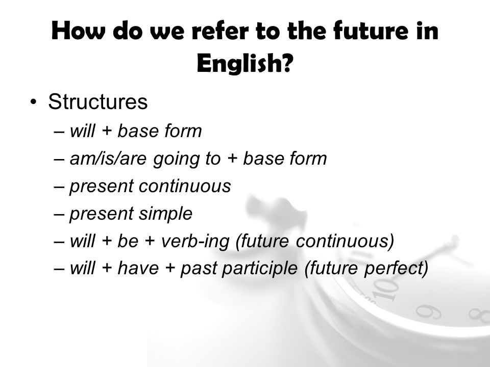 Future Meaning Analyse Ways English Refers To The Future Look At