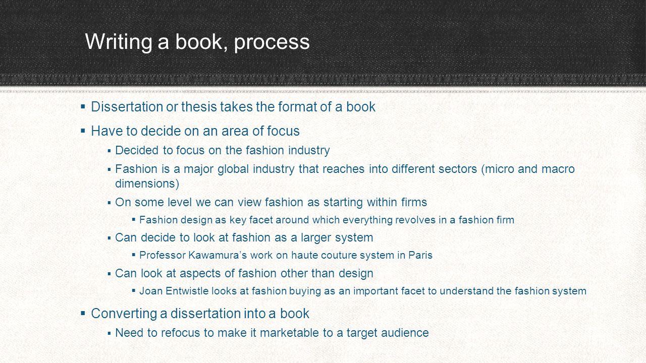 Fashion dissertation