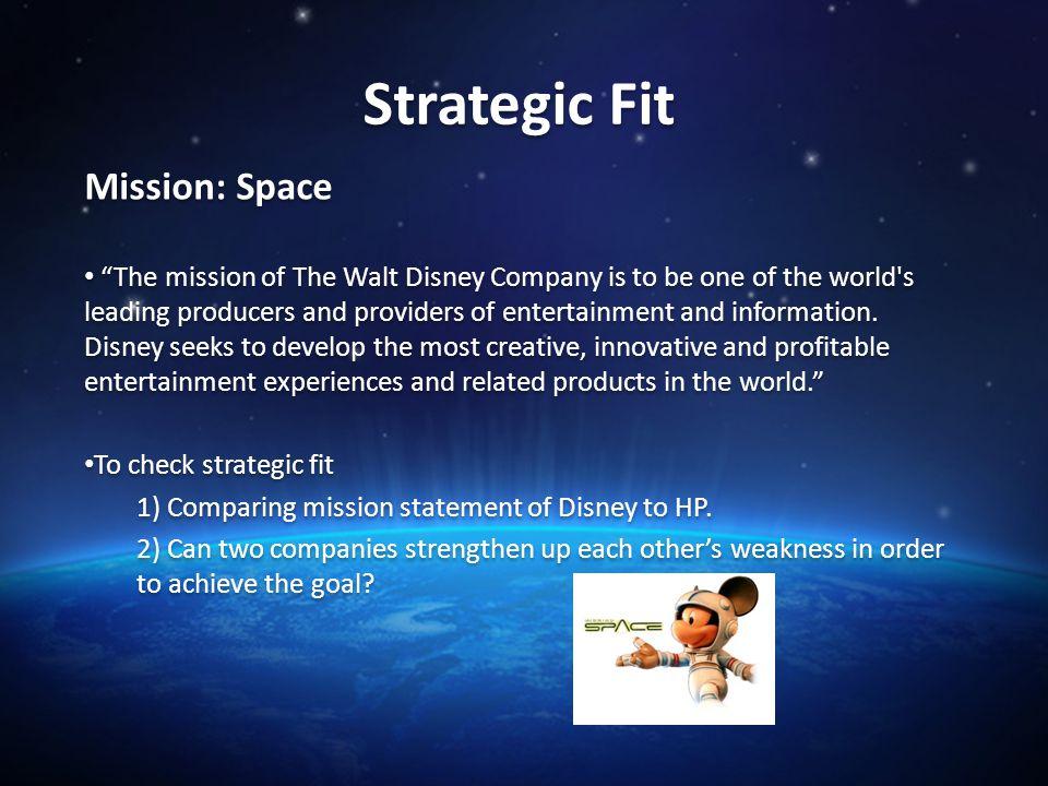 Walt disney mission statement