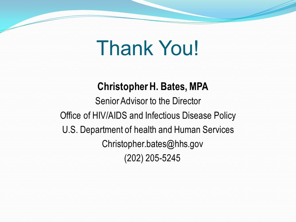 Thank You. Christopher H.