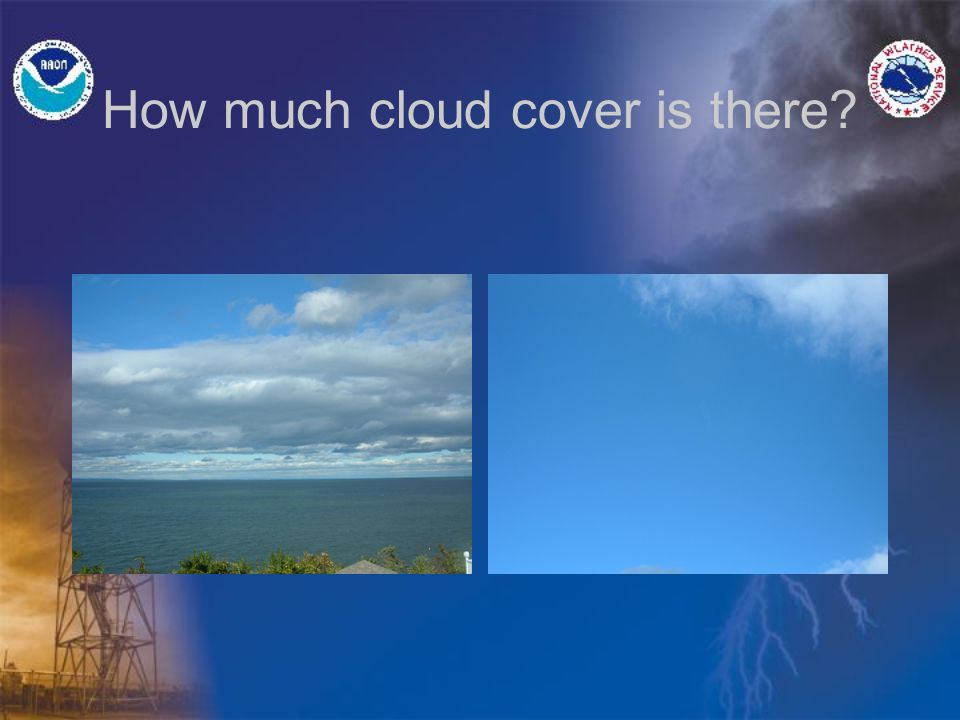 What's a Ceiling 50% or more cloud cover – BKN or OVC. What about <50% cloud cover.