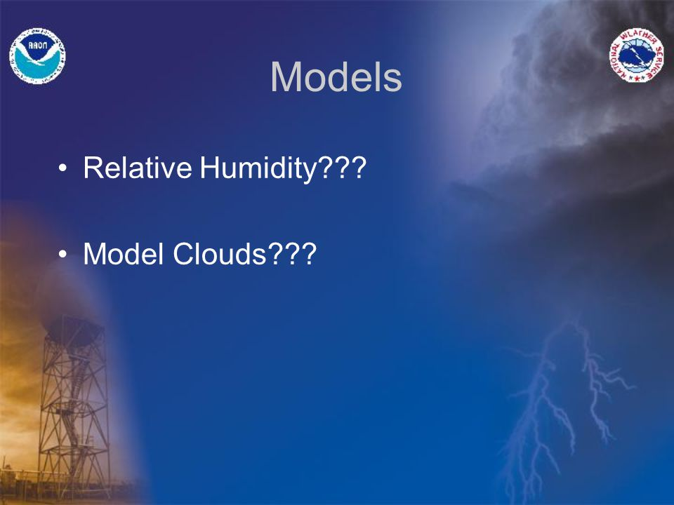 How do you forecast a cloud Numerical Weather Prediction models