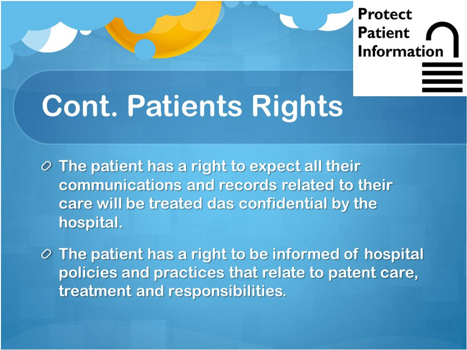 what are the rights of patients