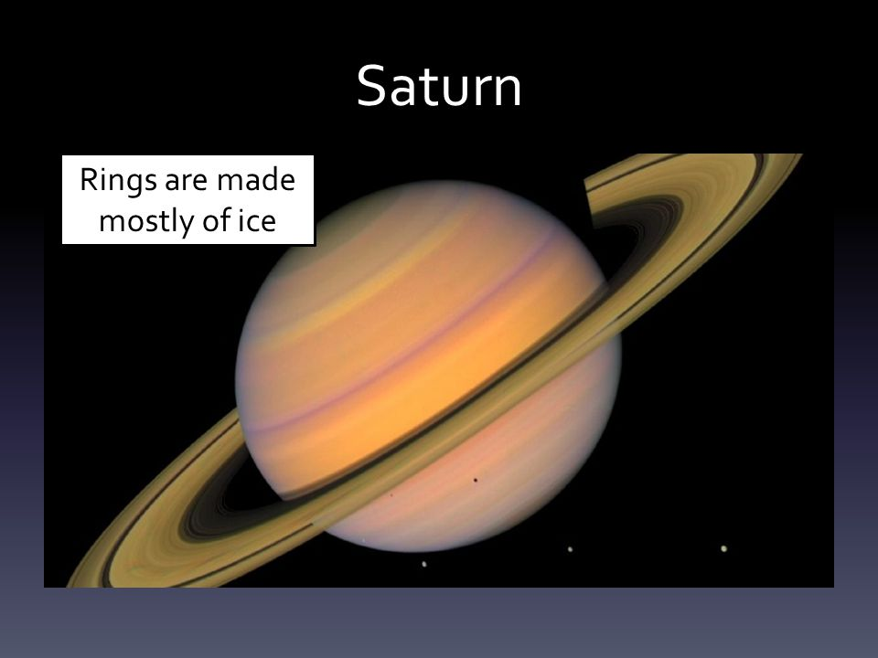 Saturn Rings are made mostly of ice