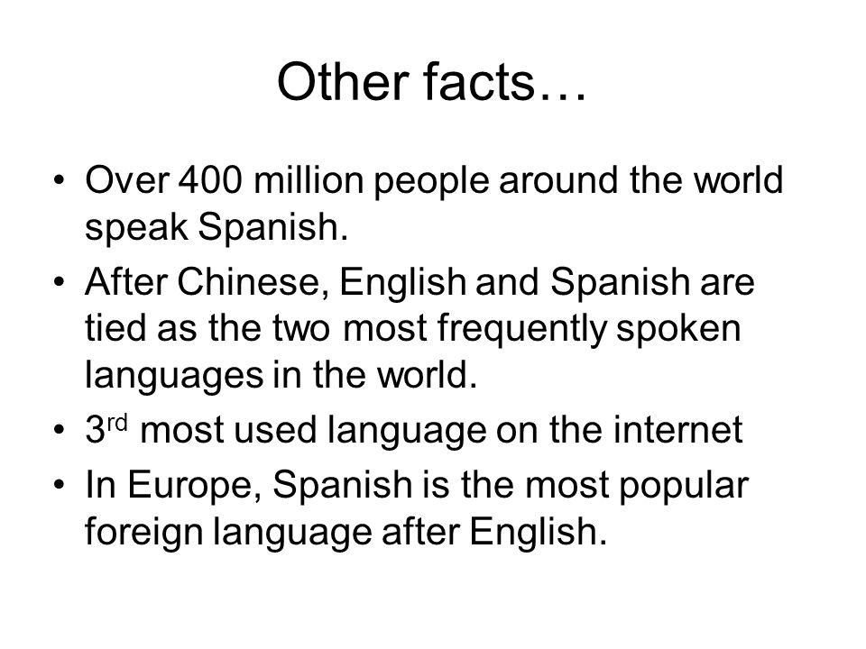 Why Learn Spanish Lesson Objectives What Are The Main Reasons - Most popular language in world after english