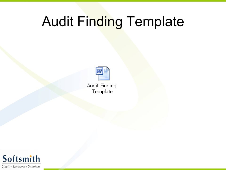Audit Finding Template
