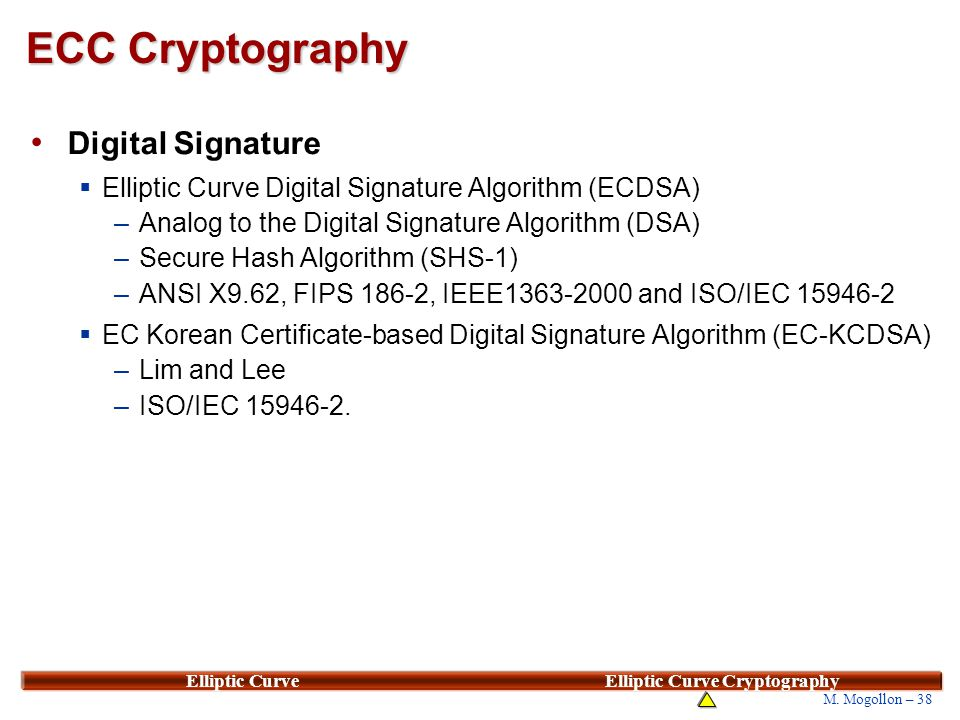 elliptic curve digital signature algorithm