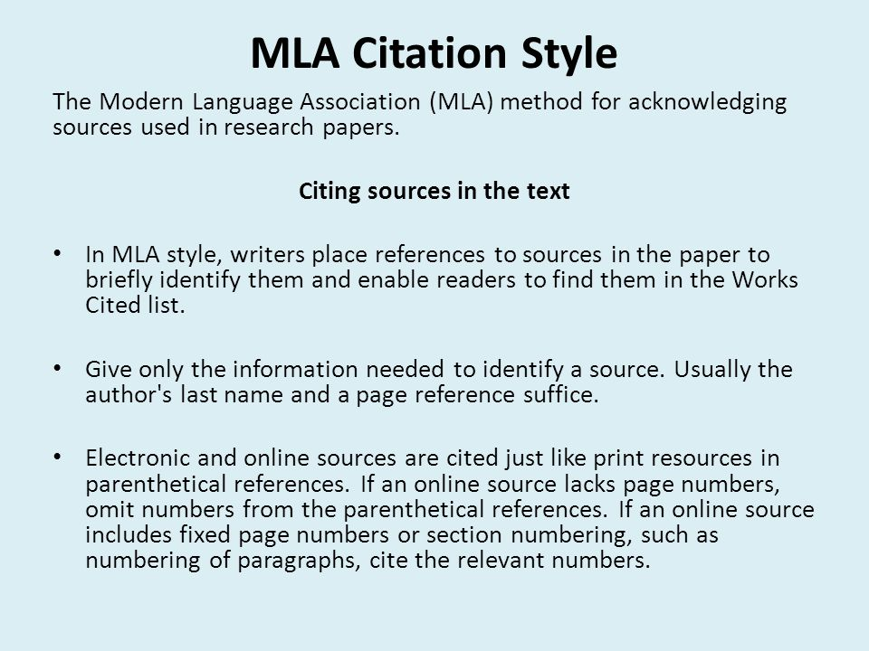 mla research paper rules The writing center at empire state college genesee valley center rochester, ny guide to writing research papers in the mla style this style sheet is intended only as an overview and does not cover all aspects of the mla style.