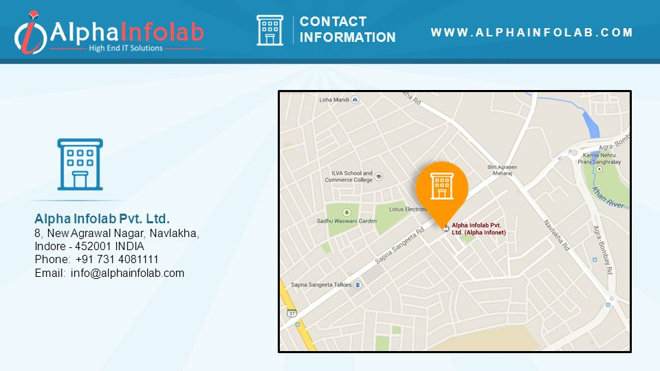CONTACT INFORMATION Alpha Infolab Pvt. Ltd.