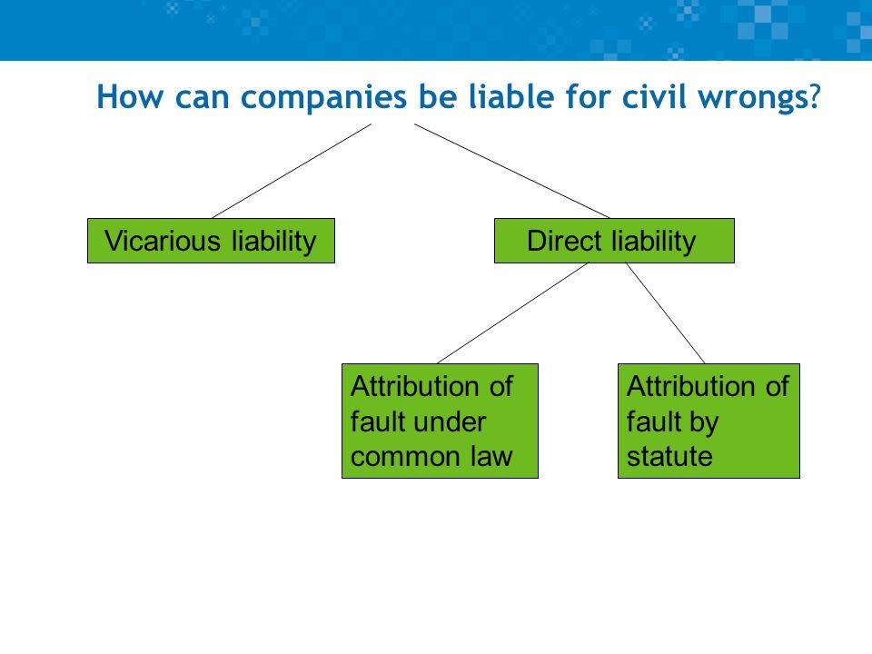 """Presentation """"Company Law � Lecture 22 � Corporate liability ..."""