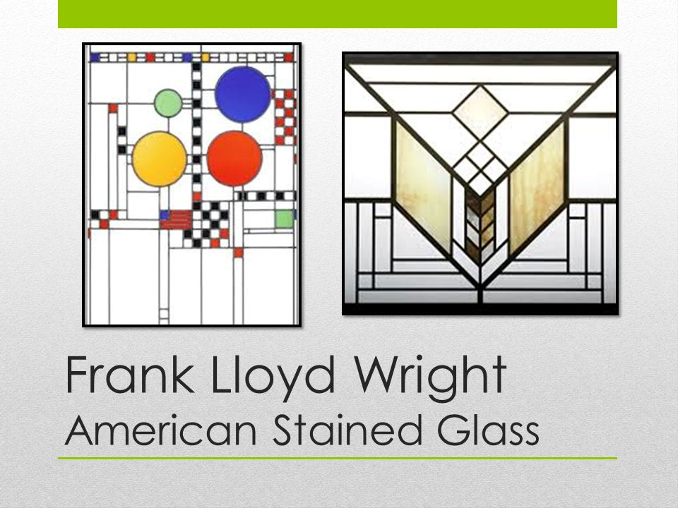 Frank Lloyd Wright American Stained Glass