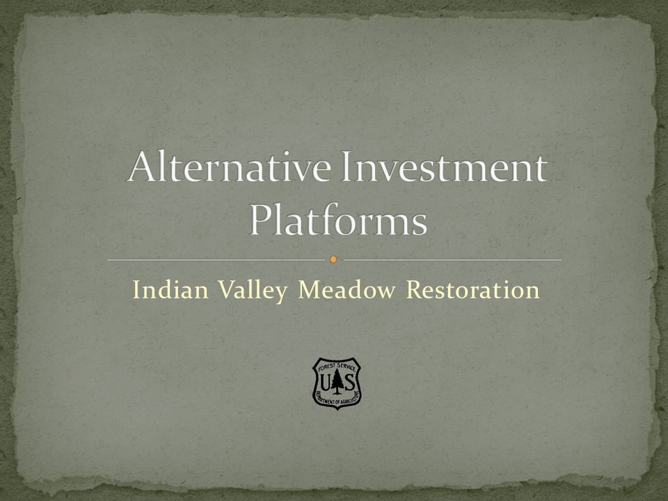 Indian Valley Meadow Restoration