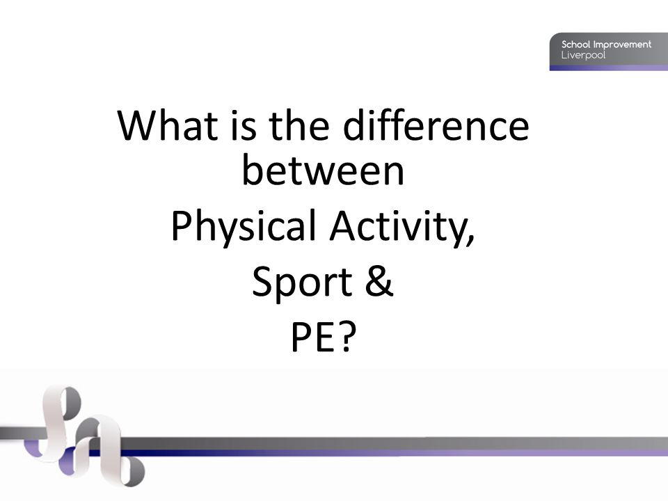 What is the difference between Physical Activity, Sport & PE