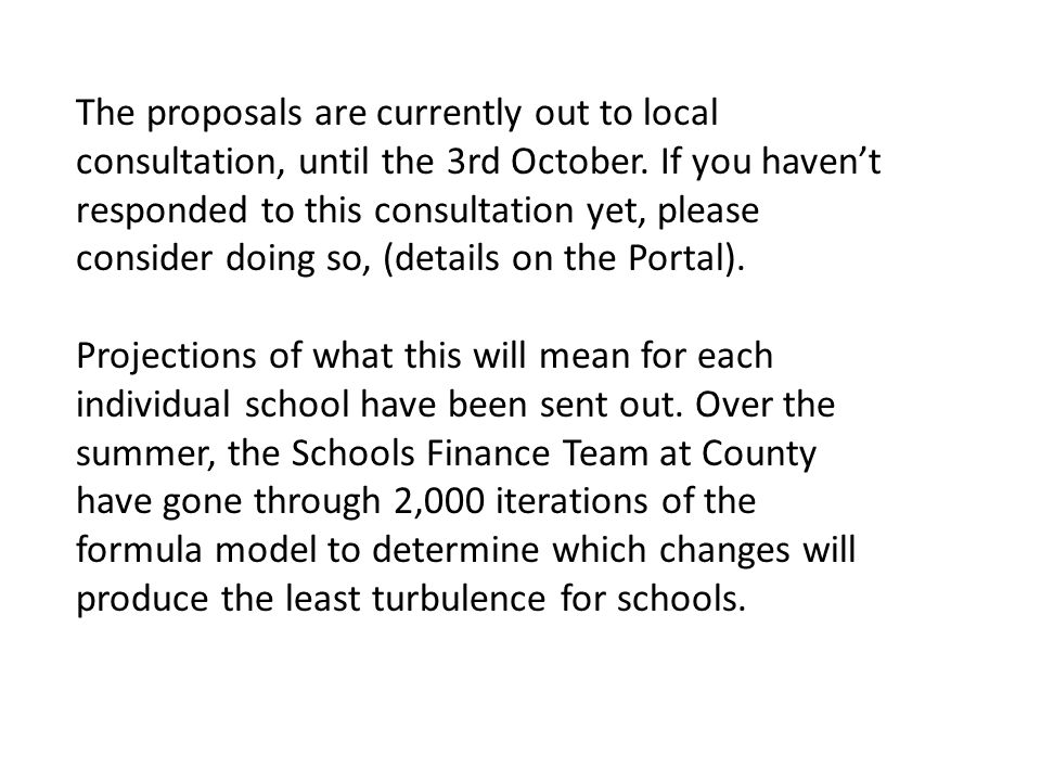 The proposals are currently out to local consultation, until the 3rd October.