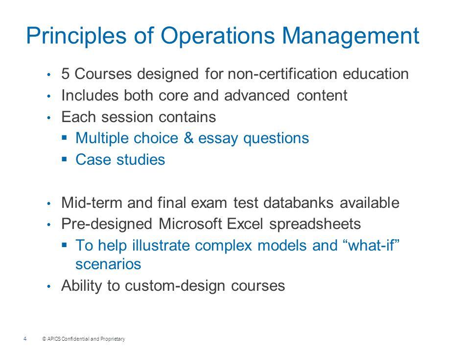 Operations Management Metrics Essay - 123HelpMe