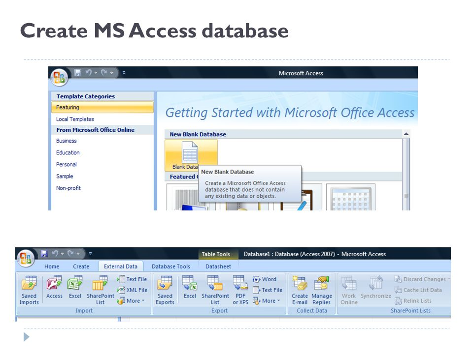 Resources – MS Access Free Online Training Resources  Using an ...