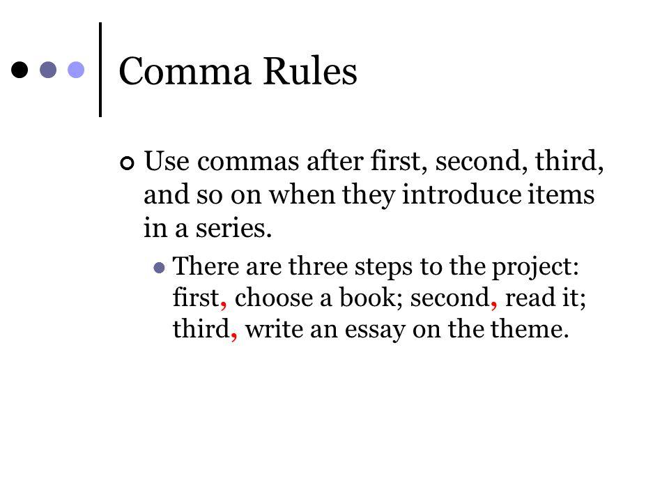 essay first second third