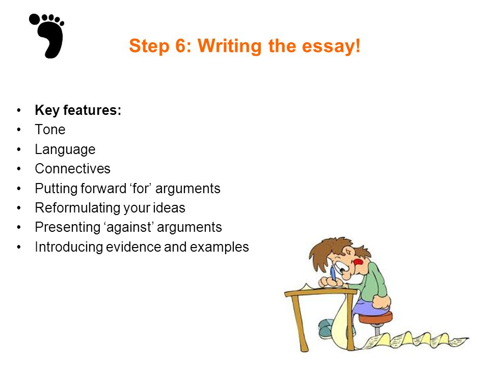 steps for writing a discursive essay