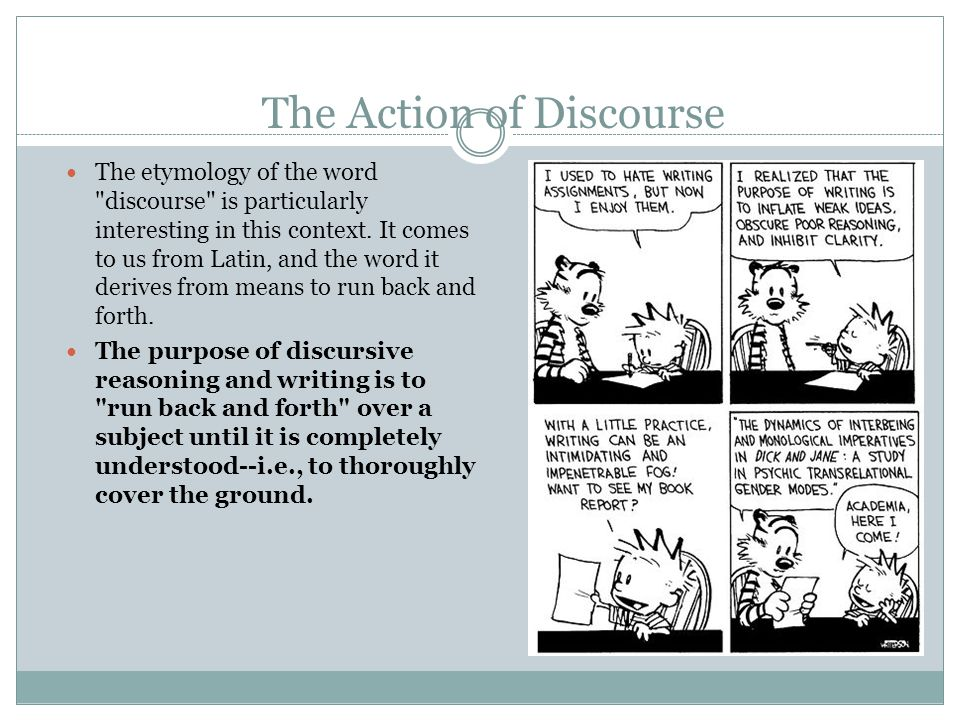 the discursively structured argumentative essay what is  the action of discourse the etymology of the word discourse is particularly interesting in this context