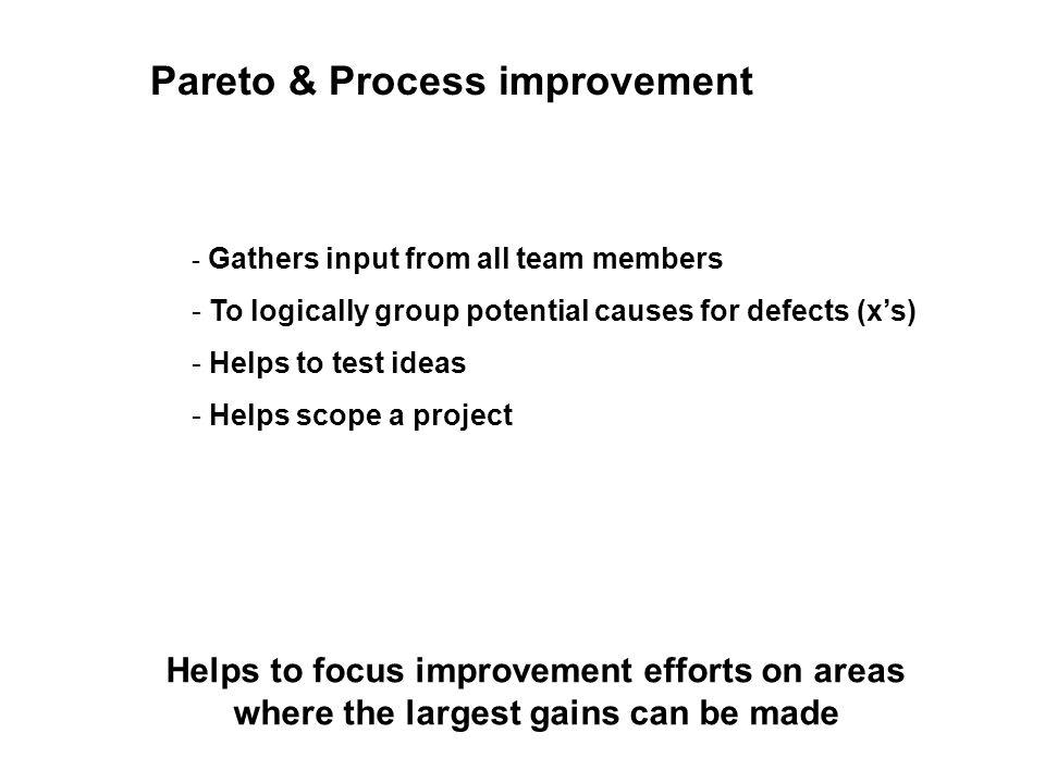 Quickstart pareto chart pareto chart understand what the pareto 6 pareto process improvement helps to ccuart Image collections