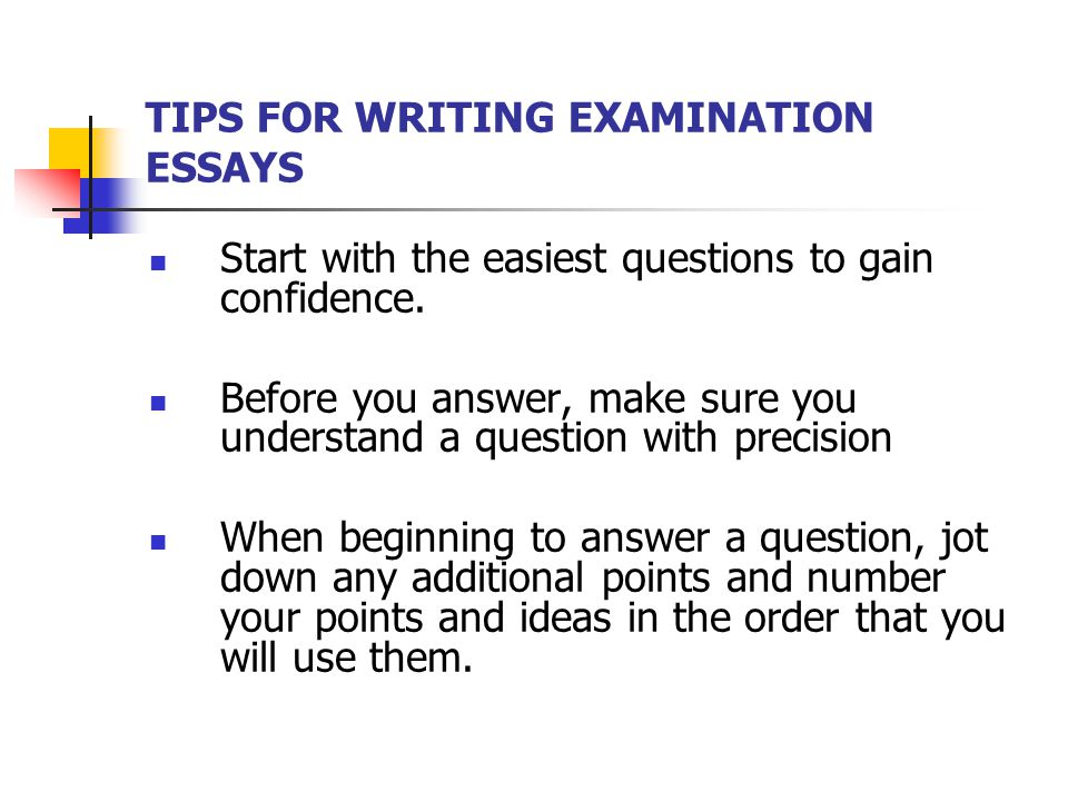How to do well on essays on midterms?