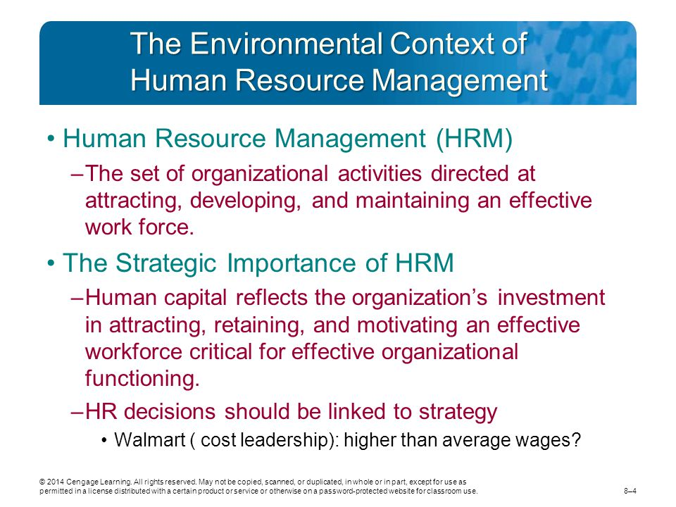 legal context of hrm