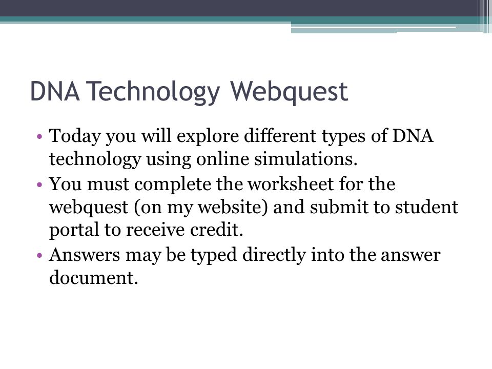 Starts on page 358 complete the necessary vocabulary on – Dna Technology Worksheet