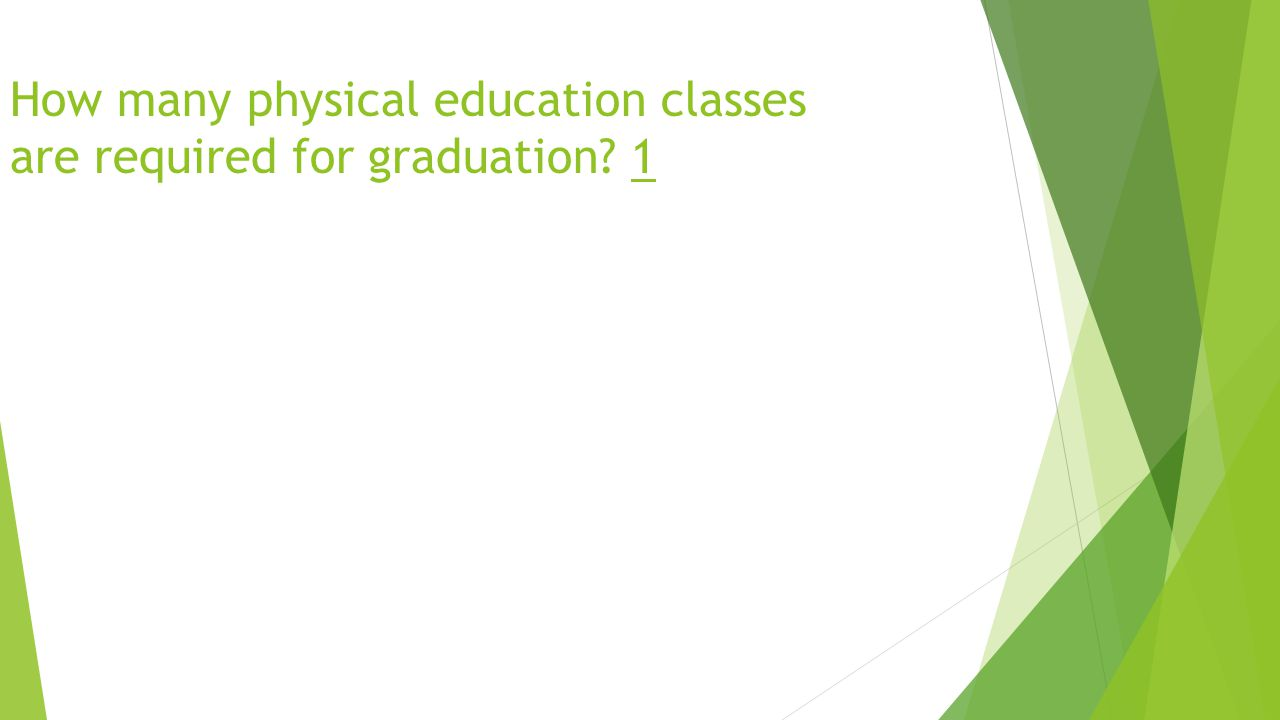 How many physical education classes are required for graduation 1
