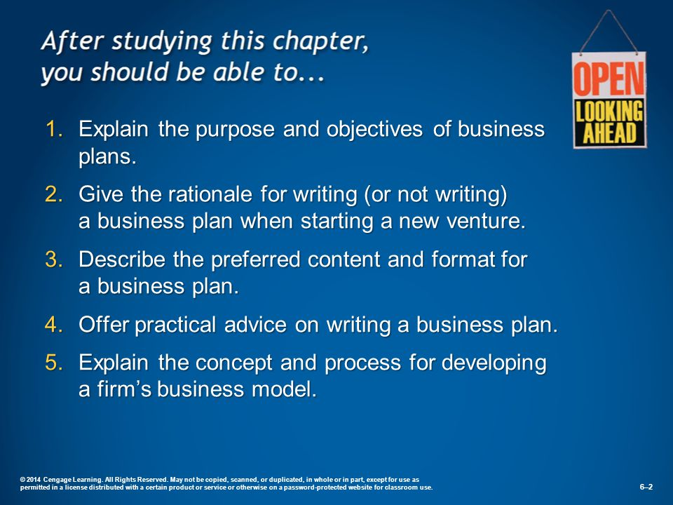 Explain The Purpose And Objectives Of Business Plans.