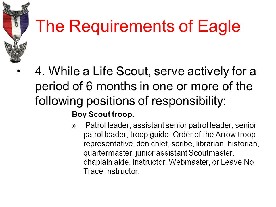 The Requirements of Eagle 4.