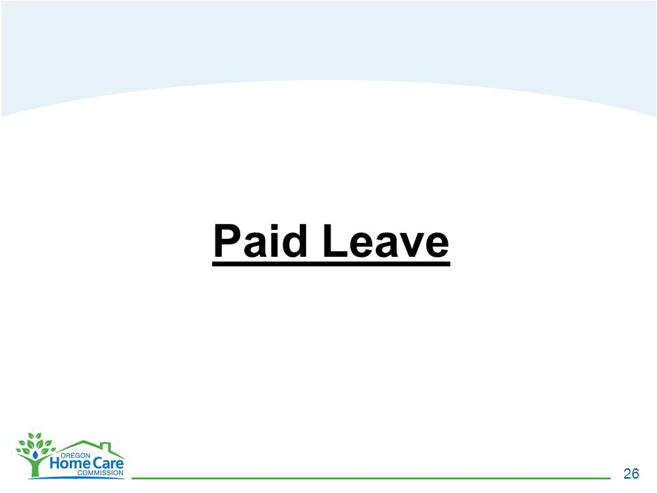 Paid Leave 26