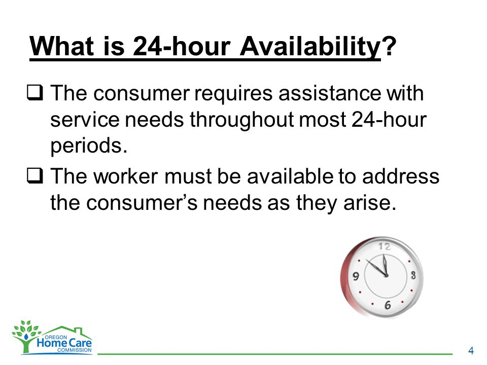 What is 24-hour Availability.