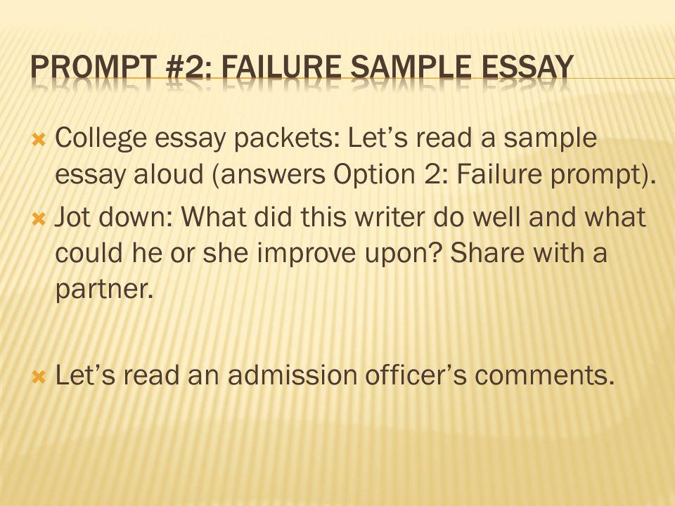 College Essay Promps