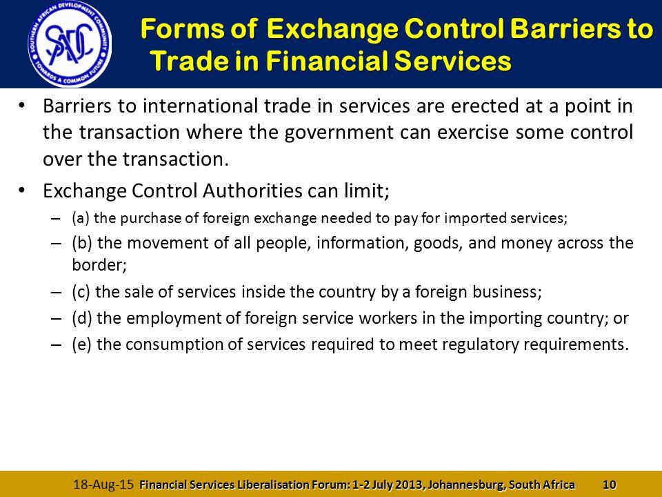 What are the exchange control requirements in international trade брокер forex с минимальным депозитом