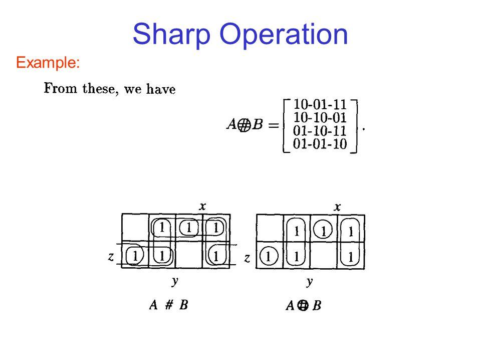 Sharp Operation Example: