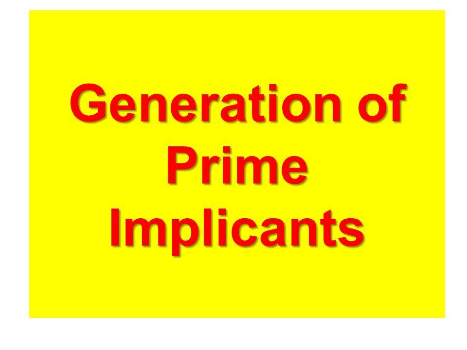 Generation of Prime Implicants