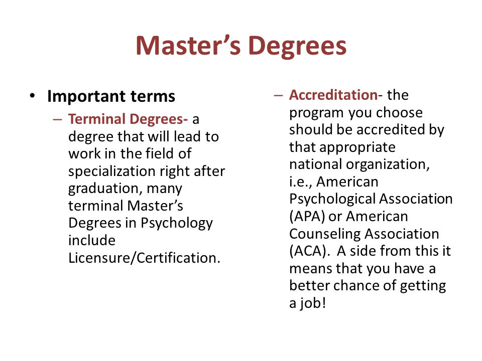 what master degree should i get