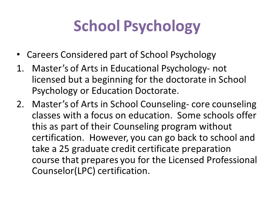 educational psychology as a career There are many different careers that you can pursue with an educational psychology degreewith this degree, you can become a counselor, psychologist, researcher and/or college professor.