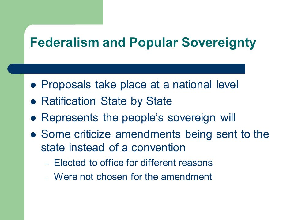 Sovereignty Proposals take National Sovereignty