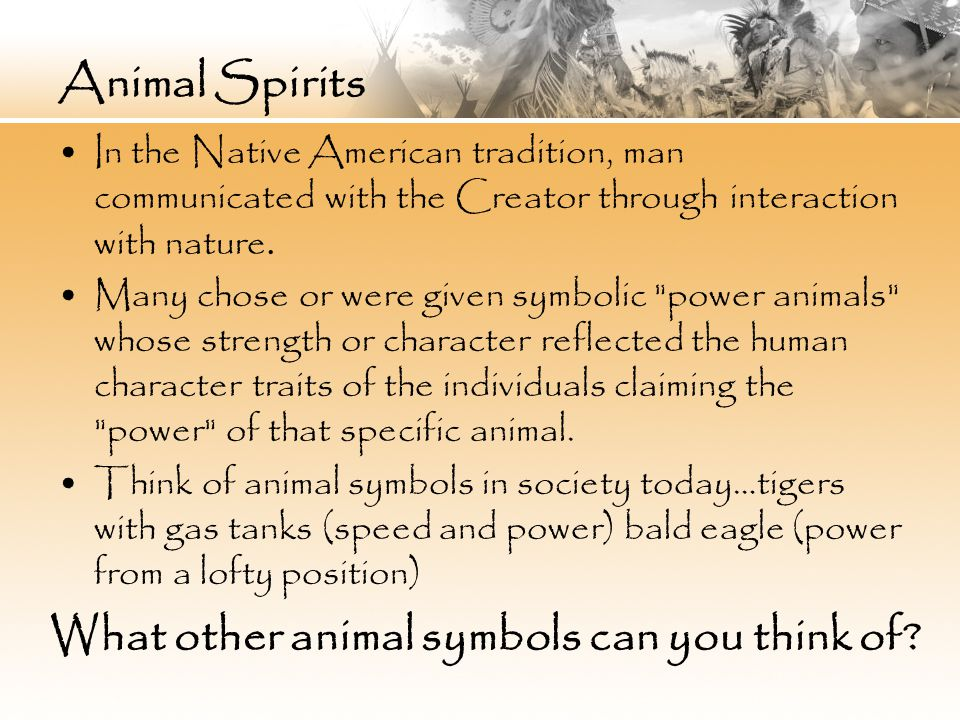 Native American Animal Spirits Finding Your Inner Animal Ppt Download