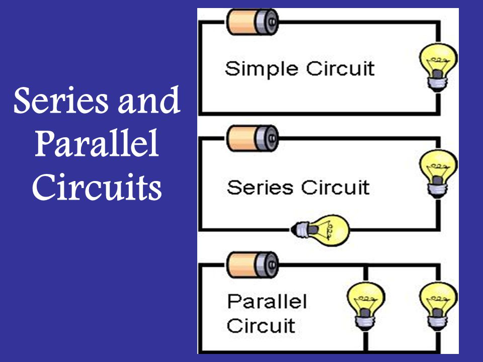 Parallel circuits are circuits with more than one pathway through which electrons can flow.