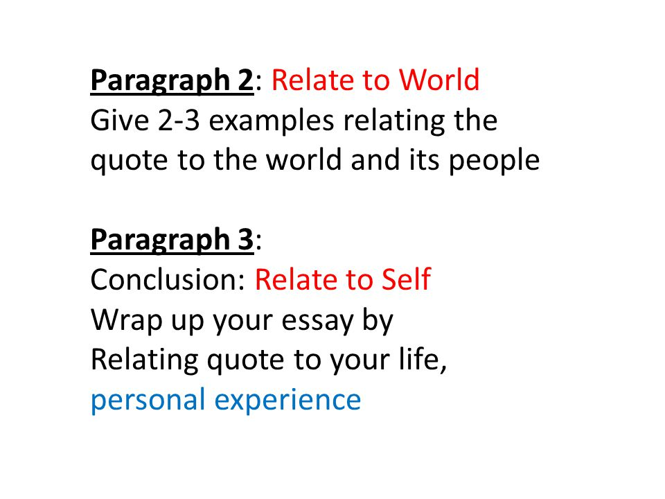 Writing a three paragraph essay