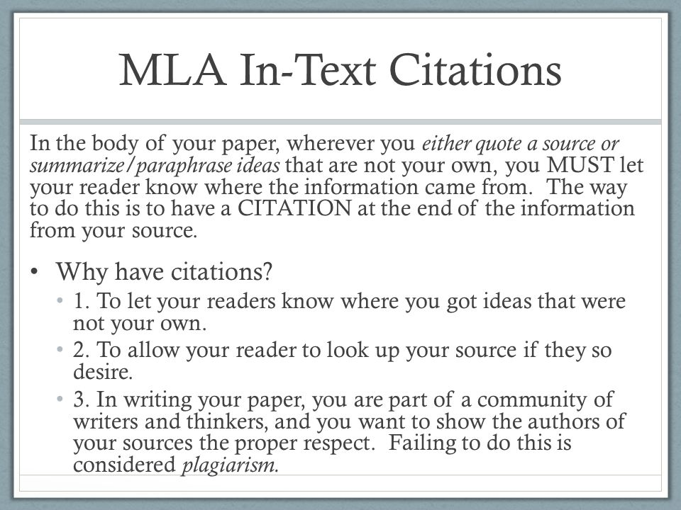 correct citation in an essay